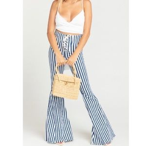 NWT Show Me Your Mumu Nautical striped Jeans